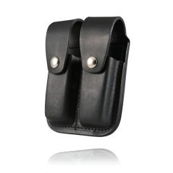 Double Mag Holder for 9mm 40Cal- Plain Leather (Silver) 11c04a525